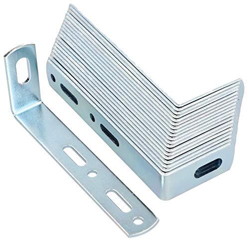 KOTARBAU® Wandbefestigung 90 x 35 x 15 mm Stahl Kippsicherung Bauwinkel Schrankbefefestigung Möbelverbinder Verzinkt Holzverbinder Montagewinkel Winkel (25)