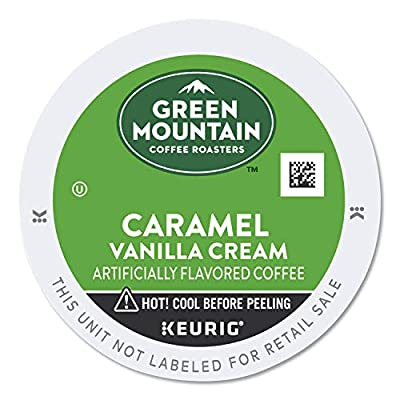Green Mountain Coffee Roasters Caramel Vanilla Cream, Single-Serve Keurig K-Cup Pods, Flavored Light Roast Coffee, 24 Count