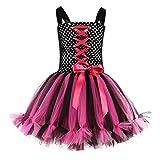 LSAltd Halloween Kleinkind Kinder Baby Mädchen Süße Langarm Bowknot Tüll Kreuz Lace Up Party Prinzessin Kleid