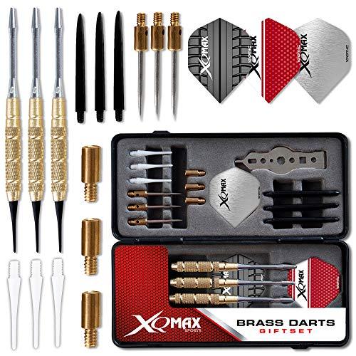 TW24 XQMax 29tlg. Dart-Geschenkset mit 3 Dartpfeilen Steeldart und Softdart Dartpfeile Dart Set