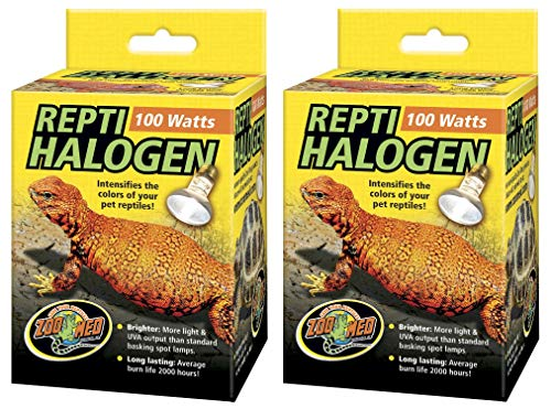 Price comparison product image Zoo Med 2 Pack of ReptiHalogen Heat Lamps,  100 Watts