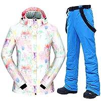スキー服 スキースーツ女性-30□女性熱防風防水雪のジャケットとパンツスキーやスノーボードのスーツ スキースーツ (Color : E, Size : S)