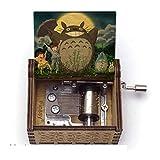 GSHGS Mi Vecino Totoro Music Box Original Metalica Regalos De Música De Madera Tallada Creativo Wood Crafts Niños Amigos