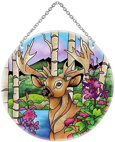 Joan Baker Designs Super Buck Deer Glass Award LC1 Suncatcher Stained Cheap bargain