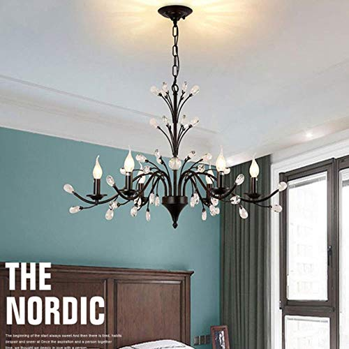 Massos IJzeren industriekristallen lamp, smeedijzeren lamp, die kaarsen-licht-huishoud-verlichting verlicht
