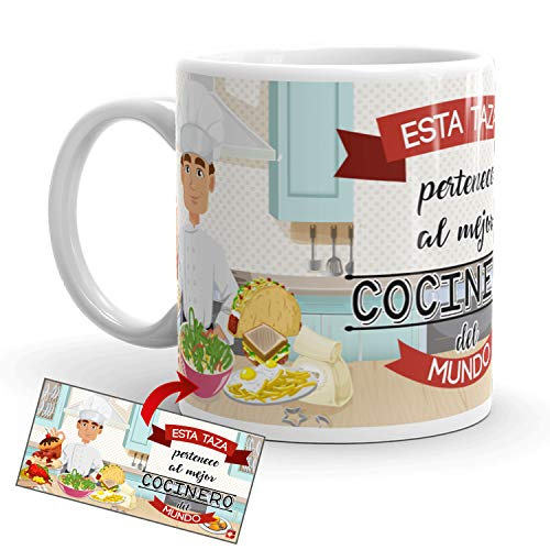 Kembilove Taza de Café del Mejor Cocinero – Taza de Desayuno para la Oficina – Taza de Café y Té para Profesionales – Tazas de Cerámica de Profesiones para Cocineros