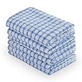 sourcingmap Cucina Ristorante Hotel in spugna di cotone Canovaccio asciugamani blu 6pz. 11x16 pollici