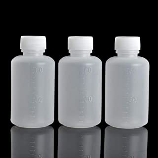 GDGY 40pcs 60ml 2OZ PE Plastic Empty Small Mouth Graduated Lab Chemical Container Reagent Bottle (60Ml40 Pcs)
