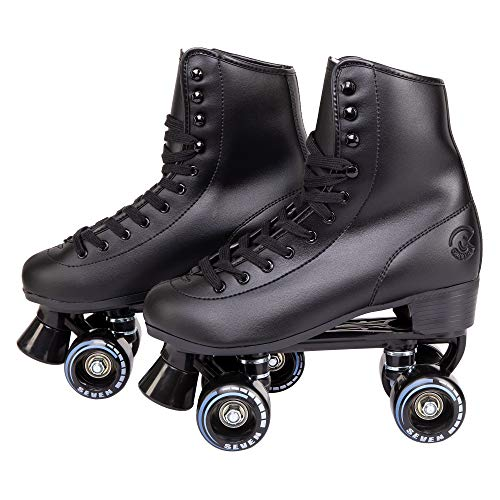 C SEVEN C7skates Soft Faux Leather Quad Roller Skates