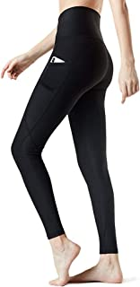 Huryfox High Waist Yoga Pants for Women -Tommy Control Workout Leggings with Pocket 4 Way Stretch Leggings