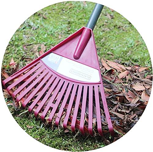 rastrillo cesped artificial rastrillo jardin Rastrillo para césped de 16 dientes / 24 dientes Rastrillo para arbustos de polietileno con mango liviano y cabezal de plástico   Para limpiar hojas de j