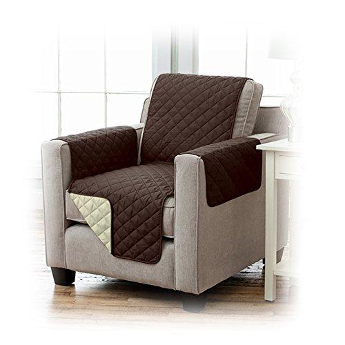 JEMIDI Sesselschoner Schonbezug Sesselschutz Schutzbezug in toller Qualität Sessel Schoner Sofabezug Sofaschonbezug Sofa Überwurf Sofa Überdecke 191cm x 165 cm Braun/Beige