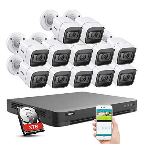 ANNKE 4K CCTV Camera System Outdoor,16-Channel Security DVR Recorder with...