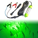 Ankey 12V 45W 72 LED 2500 Lumen Lure Bait Submersible Fishing Light Attractants Underwater Night Fishing Finder with Battery Clip Cigarette Lighter Adapter 24.6 Ft Power Cord