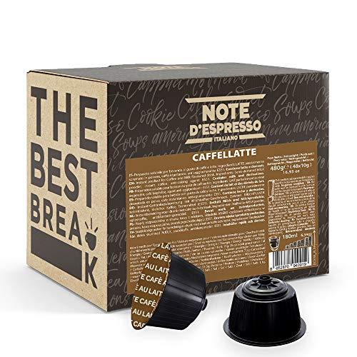 Note d'Espresso - Caffelatte - Cápsulas compatibles con Cafeteras NESCAFE'* DOLCE GUSTO* - 48 caps