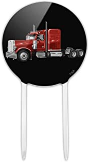 GRAPHICS & MORE Acrylic Semi Tractor Trailer Truck Trucker Cake Topper Party Decoration for Wedding Anniversary Birthday Graduation