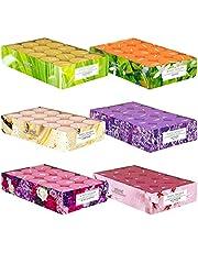 pajoma Doftande värmeljus paket med 180 doftljus färska fruktiga vår- och sommardofter i polykarbonatfodral 6 x 30 värmeljus
