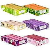 pajoma Velas aromáticas de té 180 unidades, aroma fresco de primavera y verano en funda de policarbonato, 6 x 30 velas de té