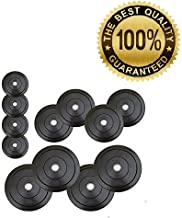 GOLD FITNESS Rubber Plates for Exercise, 70 kg