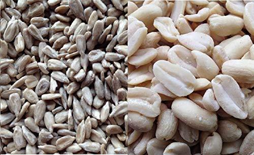 Futterbauer 20 kg Vogelfutter Kombi - 10 kg geschälte Sonnenblumenkerne/10 kg Erdnüsse weiß blanchiert