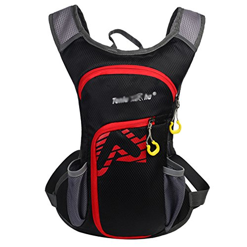 MERRYHE 12L Cycling Bags Mountain Bike Hydration Backpack Riding Bicycle Rucksacks For Unisex Outdoor Sports Camping Hiking Trekking Bags,Black-12L