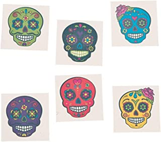Day of the Dead Sugar Skull Tattoos, 72 Count