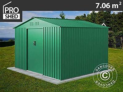 Dancover Caseta de jardín 2, 77x2, 55x1, 92m ProShed®, Verde ...