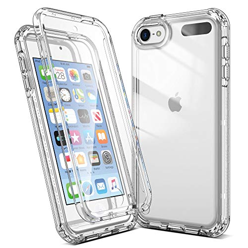 Imguardz Case for iPod Touch 7th/6th/5th Generation with Build in Screen Protector, Heavy Duty Full-Body Protection, Shockproof Anti-Scratch Bumper Cover for iPod Touch 7/6/5, Crystal Clear