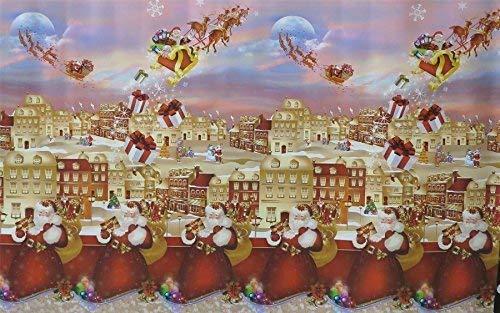 Sanem Facile à Nettoyer Premium en PVC Nappe en Vinyle Nappe en Toile cirée  Christmas   Motif Père, 250X140cm, (98x55 inch)