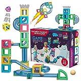 HIPPOCOCO Set di Costruzioni Magnetiche 3D con Pista per Biglie: Resistente, Atossico, Blocchi Magnetici, Promuove l'Immaginazione e la Creatività del Bambino, Gioco STEM per Maschio e Femmina (32 PZ)