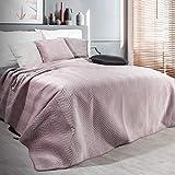 Eurofirany Exklusive Decke Tagesdecke Glamour 200x220 170x210 Steppdecke Bettüberwurf Überwurf (Sofia Pude, 200 x 220 cm)