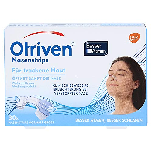 Otriven Besser Atmen transparente Nasenstrips für trockene Haut normale Größe, 30 Stück