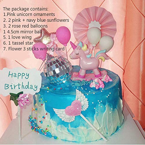 Cake Decoration Plugin Rocking Horse Trojan Birthday Party Children's Creative Accessories Set-Creamy-Whitezeenca