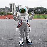 WSJDE 3 Colores Astronauta Cosplay con Casco para Adultos Traje Espacial Universe Star Party Mujeres Hombres Ropa Accesorios de Ajuste Altura 160-175 cm Blanco