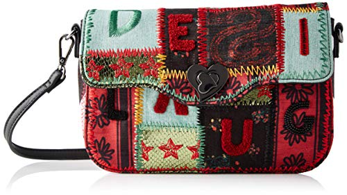 Desigual Bag Patch 1970 Amorgos, Borsa a Cartella Donna, Grün (Green Aloe), 16x6x26 centimeters (B x H x T)