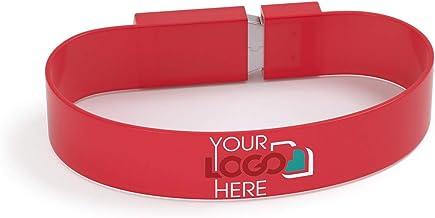 Sponsored Ad - Possibox Custom Wristband USB Flash Drive 2GB Printed with Your Logo - as Promotional Gift - Bulk USB 2.0 -...