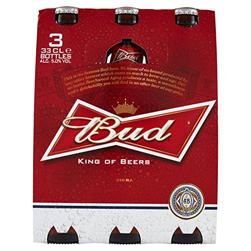 Budweiser Birra Bottiglia Ml.330 (Pacco da 3)
