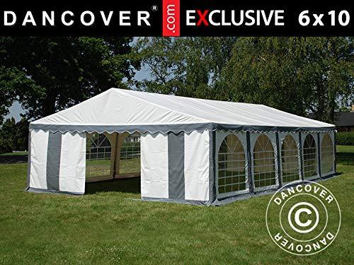 Dancover Partytent Exclusive 6x10m PVC, Grijs/Wit