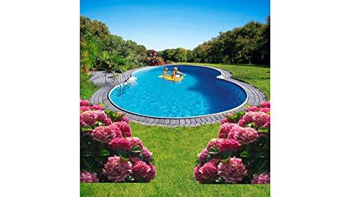 MYPOOL Achtformpool Premium, LxBxH: 470 x 300 x 120 cm, 6-tlg. 300 cm, 470 cm, 120 cm