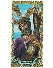 Cristo de la Salud (Los Gitanos). Azulejo fabricado artesanalmente para decorar. Cerámica para colgar. Calca cerámica. TORO DEL ORO (20x30 cms)