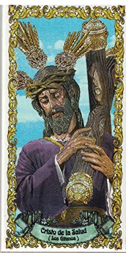 Cristo de la Salud (Los Gitanos). Azulejo fabricado artesanalmente para decorar. Cerámica para colgar. Calca cerámica. TORO DEL ORO (14x28 cms)