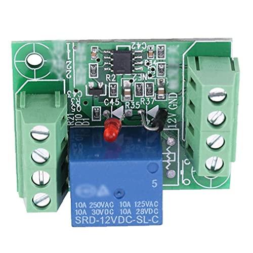Módulo de relé de un solo canal DC 12V circuito biestable interruptor de disparo relé de placa de control