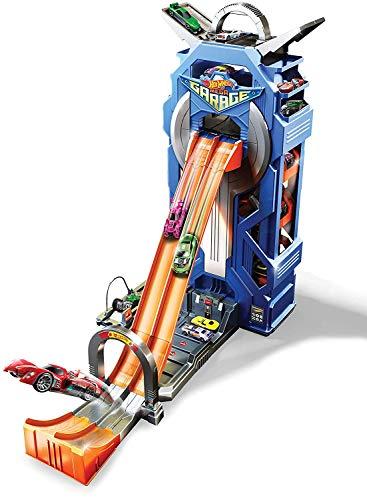 Hot Wheels Supergaraje, garaje para coches de juguete (Mattel Spain FTB68)