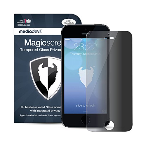 MediaDevil Privacy Glass Screen Protector for iPhone SE (2016) and iPhone 5S / 5C / 5 - Tempered Glass Security Filter (1-Pack)