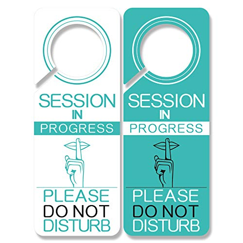 4 Pack Do Not Disturb Door Hanger Sign Funny, in Session Sign for Therapists, Massage, Spa Treatment, Counseling Sessions, Using in Any Places Like Deal for Offices, Clinics, Law Firms, Hotels.