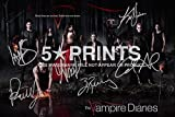 The Vampire Diaries Poster Photo 12x8 Signed PP by 6 Cast Ian Somerhalder, Paul Wesley, Nina Dobrev, Kat Graham, Candice Accola, Zach Roerig Style C by 5 Star Prints