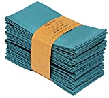 Ruvanti Kitchen Cloth Napkins 12 Pack (18'X18'),Dinner Napkins Soft & Comfortable Reusable Turquoise Napkins -Durable Linen Napkins - Perfect Table Napkins/Teal Napkins for Family Dinners, Weddings.