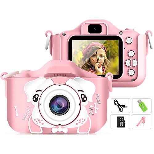 Airbin - Cámara digital para niños, 2,0 pulgadas, pantalla IPS, 12 MP, HD, cámara de videovigilancia, cámara de juguete para niños, regalo para niños y niñas, con tarjeta SD de 32 GB