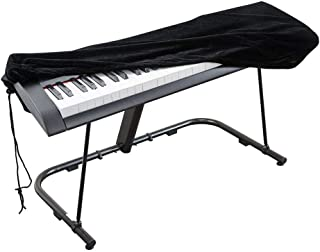 Piano Keyboard Cover, Stretchable Dust Cover with Adjustable Elastic Cord and Locking Clasp for 61 Keys 88 Keys Electronic...