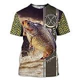 BBYOUTH Camisas De Pesca De Bajo 3D para Hombres, Camuflaje De Pescado De Peces Impresión Animal Arte De Verano Manga Corta Harajuku Camiseta,Fish Hook,3XL